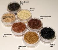 1000 pçs / garrafa 2.9mmx1.9mmx2.0mm Micro cobre nano anel ligação contas extensões de cabelo ferramentas 7 cores