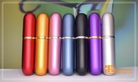 Alta Qualità Colorful 5 ML Moda Atomizzatori Vuoti Riutilizzabili Viaggi Bottiglie di Profumo Spray Trucco Bottiglia di Metallo Dopobarba Prezzo di Fabbrica 100 pz