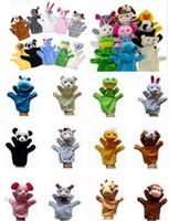 "100 teile / los 9 ""Tier handschuh puppen große plüsch puppe hand spielzeug baby kind zoo farm tier handschuh puppe finger sack plüschtier"