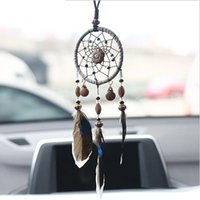 2 Colors Small Shells Dreamcatcher & Wind Chimes Car Pendant...
