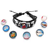10 Styles de noël NOOSA Snap Button bracelets en cuir Chunk 20mm Ginger Snap bracelets de charme tressés pour les femmes de mode bricolage bijoux