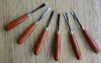 Talla de madera Herramienta de cincel, herramientas de carpintero, cuchillos de talla, 6 pcs / lote