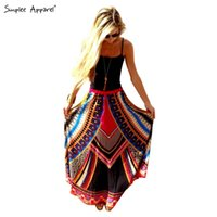 FG1509 Simplee Apparel summer style boho vintage african lon...