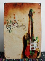 new 2015 Vintage Tin sign Retro Metal Painting Guitar Pictur...