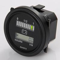 Freeshipping Ronda lcd medidor de horas con indicador de batería LED Gauge Gauge 12V 24V 36V 48V 72V para coche de golf barrendero