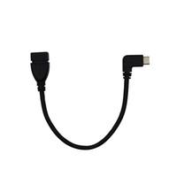 USB 3.1 Tip-C OTG Veri Kablosu 90 ° Dirsek / 3.1 USB Kafa OTG Adaptör Versiyonu 3.1 Dirsek Anahtarı Şarj