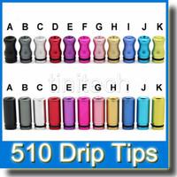 Sigaretta elettronica metallo colorato punta a goccia alluminio 510 punte a goccia alluminio per Vivi Nova DCT V2 iClear30b Protank atomizzatore EGO punta a goccia