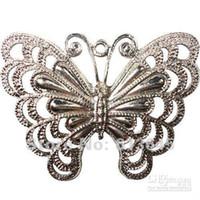 10 teile / los Legierung Silber Schmetterling Anhänger für Schmuck Halskette Schal mit Kristall, freie s