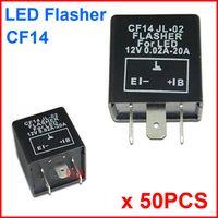 50PCS CF14 JL-02 LED Flasher 3 Pin Electronic Relay Module Fix Auto Motor LED SMD Turn Signal Light Error Flashing Blinker 12V 0.02A TO 20A