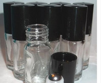 Refillable Thick 5ml MINI ROLL ON Clear GLASS BOTTLES ESSENT...
