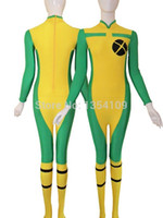 Nuevo Estilo X-men Rogue Spandex Superhero Costume Halloween Party Cosplay Zentai Traje