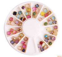 Nail Art Rhinestones Pro 4mm Colorful Mixed Alloy Nail Art A...