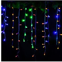 Holiday Christmas Garden Curtain Icicle String Led Lights De...
