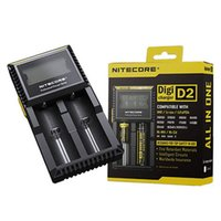 Original Nitecore D2 LCD Digicharger Universal Intelligent Ladegerät für 18650 14500 16340 18350 Li-Ion Ni-MH Batterie US / EU / UK-Stecker