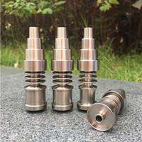 Бесплатная доставка Domeless Titanium Nail Titanium Gr2 гвозди сустав 10 мм 14 мм и 18 мм стекло бонг водопровод стеклянные трубы универсальный и удобный