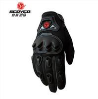 2015 nieuwe lente en zomer scoyco mc29 motorrijden handschoenen moto racing volledige vinger handschoenen ademende drop resistentie 4 soorten kleur