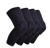2018 retail 2pcs Honeycomb Knee Pads Bumper Crashproof Footb...