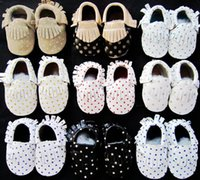 Retail 2015 NEW Baby Gold Star Dot Moccs Baby Fringe Moccasi...