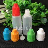 سريع الشحن لينة نمط PE إبرة زجاجة 20ML زجاجات القطارة الطفل والدليل على قبعات LDPE E السائل زجاجة فارغة