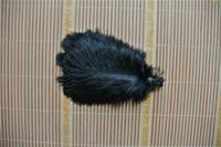 Commercio all'ingrosso 100 pz 8-9 pollici nero piuma di struzzo per centrotavola di nozze decorazione della tavola del partito fornitura decorazione festiva