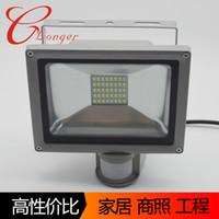 20W 차가운 백색 SMD LED 홍수 빛 + 동의 감지기 옥외 정원 램프 빛 IP65