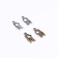 Hot Heart Love en alliage de zinc antique pendentif en argent / bronze Fabrication pendentif bijoux bricolage fit collier ou bracelets charme 100pcs / lot 398