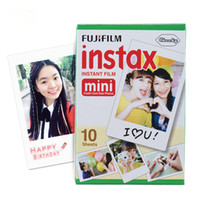 10 feuilles Fujifilm Fuji Instax Mini 8 film Mini 7s 25 50s 90 Appareil photo Fuji Instax White Edge Film photo Papier