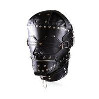 Capa completa nova da sujeição do couro da sujeição / máscara luxuosas do aperto com o fecho de correr de venda Blind da boca