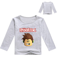 2017 Kids Long Sleeve T- shirt For Boys Roblox Costume For Ba...