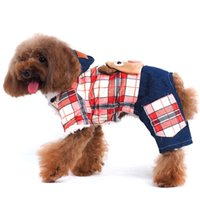 Autumn and winter new fashion trend dog clothing dog four fe...