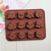 Cartoon Owl Shape Decorative Cake Mould Silicone Easy Clean ...