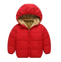 New Winter Boys and Girls Children over 96% cotton padded cl...