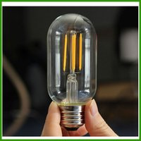 New 2200K Warm White T45 Filament LED Bulb 110lm w 2w 4w CE....
