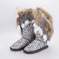 new style women fashion real fox fur boots high quality snow...