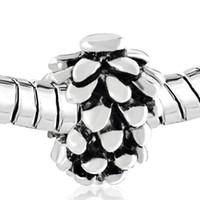 Mode Legering Materiaal met Rhodium European Style Pinecones Pine Cone Girls DIY Charm Beads Past Pandora Armband