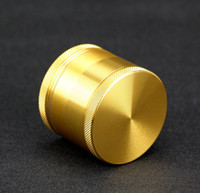 1601 Solid Gold Herb Grinder 55mm 4 Layers Smoking Grinder A...