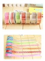 DIY Lindo Colorido Kids Photo Props Lace Flower Tape para Scrapbook Decor Photo Albums Accesorios washi tape Envío gratis TY1019