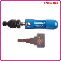 정품 KLOM 튜 블러 7.8 핀 7 핀 록 픽크 공구, 록 스미스 도구 선택 고정 도어 잠금 장치 오프닝 자물쇠 도구 교차 선택