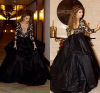 Spitze Sheer Neck Abendkleid Myriam Fares Formale pagent Kleider Zurück Reißverschluss Eine Linie Vestidos de festa Formale Abendkleider mit langen Ärmeln