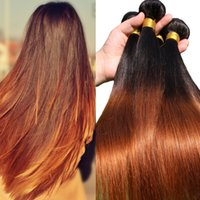 6 Color Two Tone Honey Blonde Brazilian Hair Extensions 3 Pi...