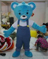 High Quality Adult Size Cowboy Tappi Bear Mascot Costume Fan...