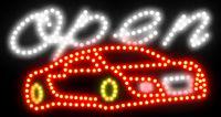 21.5 * 13 인치 LED 사업 온 / 오프 스위치 주유소 네온을 가진 열려있는 세차 표시 열려있는 밝은 빛