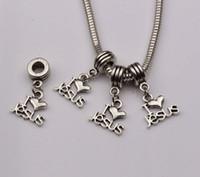 """Vente chaude ! 100pcs Antique Argent """"I Love Jesus"""" Coeur Religieux Dangle Perles Fit Bracelet 23x16 (403)"""