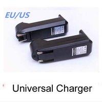 Universal Único Slot Carregador Para 3.7 V 450 mA 18650 16340 14500 Li-ion Recarregável Bateria UE EUA Plug Charge Adaptador 100 pçs / lote dhl livre
