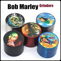 Bob Marley Grinders VS Sharpstone Accessories Zinc Alloy Metal Herb Grinder 4 Layered Design 50mm 55mm 63mm DHL