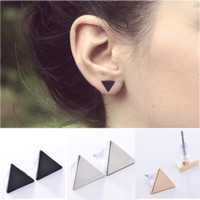 Estilo Lady Lady Punk Simple Triangle Earring Street Style Estilo Rock Lindo Delicado Small Geometric Ear Stud Earrings Nuevo