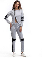 2017 new women clothes sets Tracksuits Fashion split Casual ...