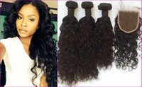 Malaysian Water Wave Lace Closure With Bundles G- EASY Virgin...