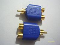 Adattatore per spinotto audio Y RCA AV placcato oro 100 pezzi Adattatore 1 maschio A 2 femmina