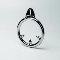 Колючая анти-офф кольцо для петух Кейдж из нержавеющей стали мужской целомудрие устройство ТОС игрушки металл БДСМ игрушки бондаж передач взрослых Секс-Игрушки для мужчин